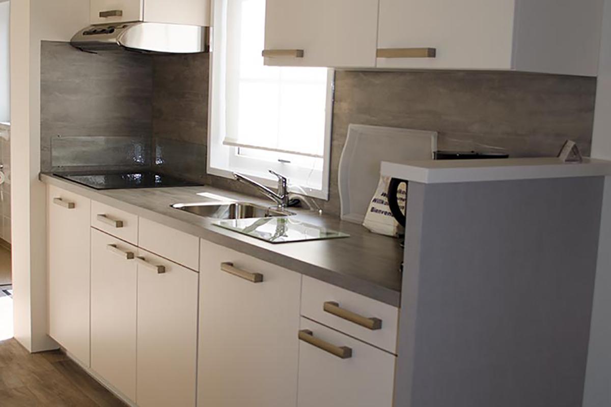 6. Küche Orlando Mobilheim dunkel