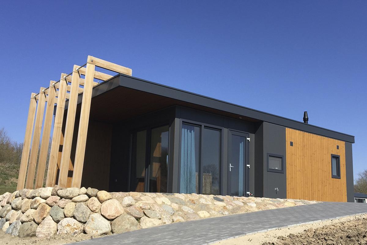 3. New Bay Mobilheim Seepark Süsel in der Komplettansicht