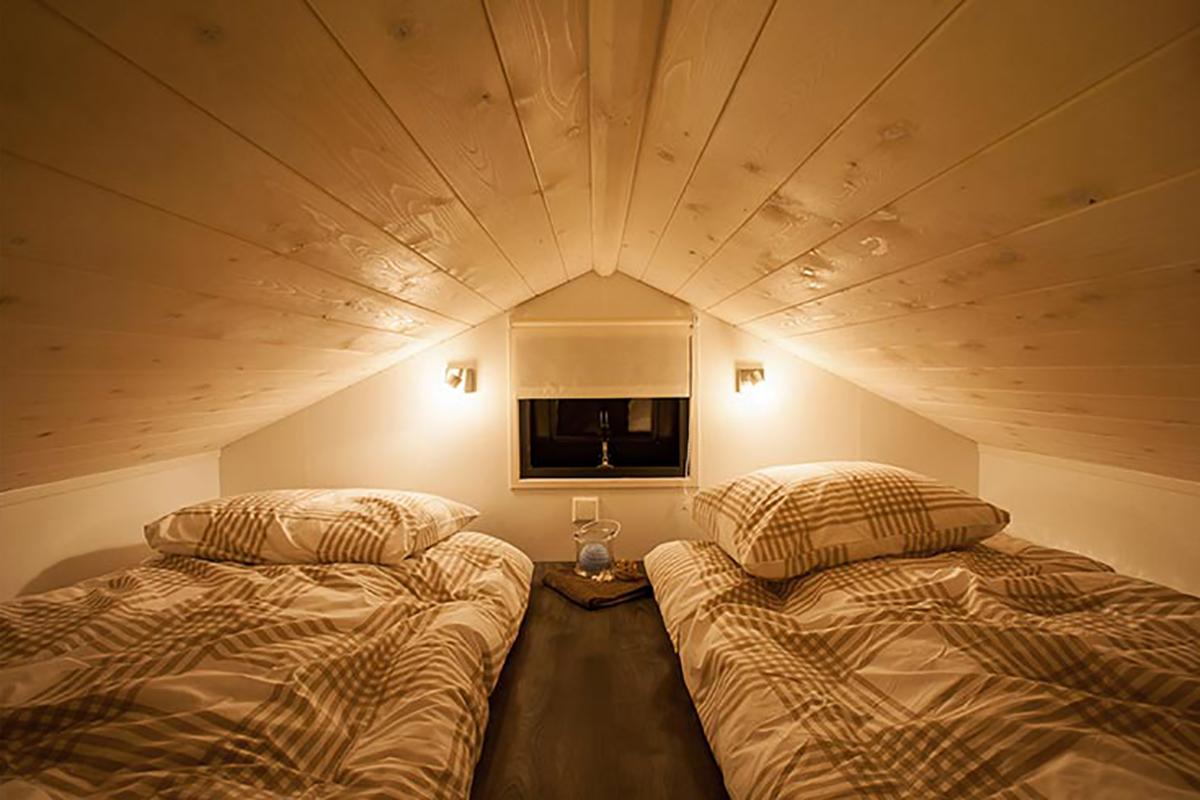 5. Dünenlodge Mobilheim Schlafbereich unter dem Dach