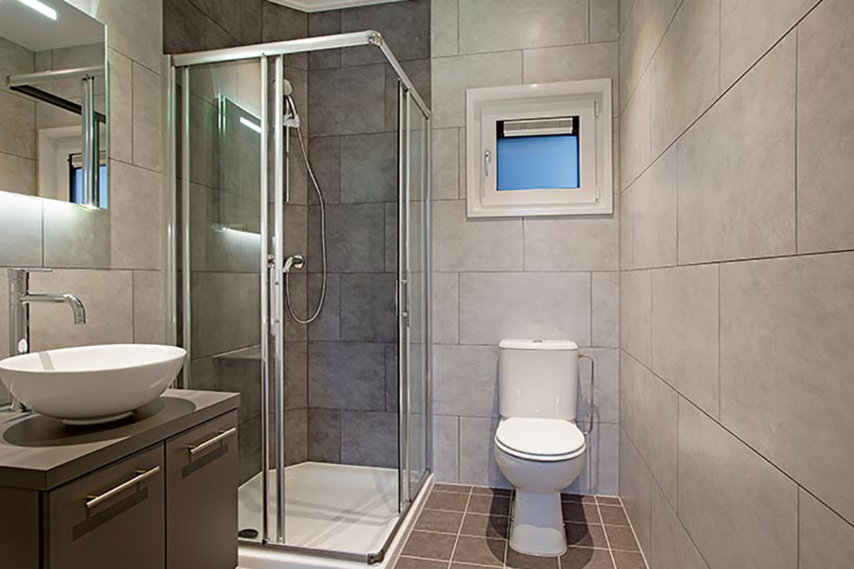 5. Standard Badezimmer im Charleston Mobilheim